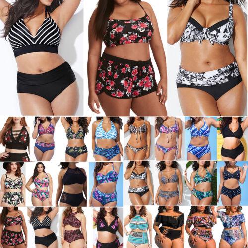 Women Push Up High Waisted Bikini Set Swimwear Swimsuit Bathing Suit Plus Size
