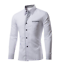 Fashion-Men-039-s-Lapel-Shirts-Blouse-Business-Long-Sleeve-Slim-Cotton-Blend-Tops thumbnail 2