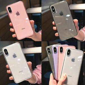 Para-iPhone-11-Pro-Xs-Max-Xr-X-8-7-6-Funda-de-silicona-transparente-a-prueba-de-choques