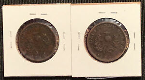 4-1824-amp-1832-Nova-Scotia-Half-Penny-Canada-Tokens