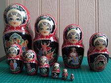 Ten-Piece Matryoshka / Russian / Nesting Doll Wood Figures: Excellent Condition!