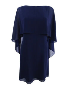 Vince-Camuto-Women-039-s-Capelet-Shift-Dress-4-Navy