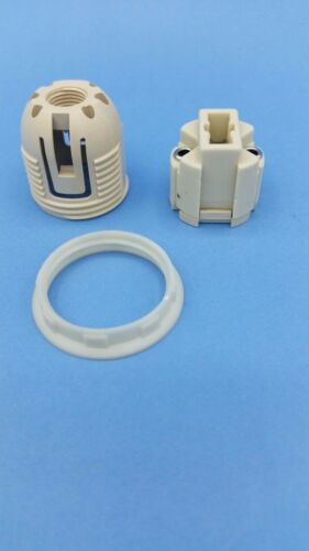 2 Sück Hochvolt-Fassungen G9 Steatit Schraubring und Innengewinde M10