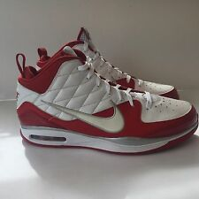 RARE�� Nike Air Dream Blue Chip II White Red Quilt Pattern 375752-161 NICE SZ 17