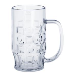 12-St-Bierkrug-0-4l-glasklare-Kunststoff-Glaeser-hochwertig