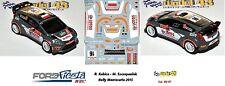 DECAL  1/43 -  FORD  FIESTA WRC  -  KUBICA - Rally Montecarlo    2015