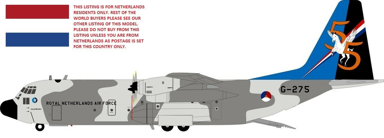 Si 130 rnaf 002 1 200 Países Bajos Fuerza Aérea C-130 Hercules G275-Países Bajos sólo