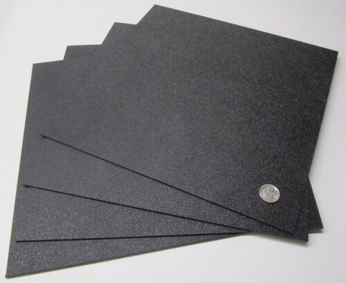"""1 Side ABS Sheet  Haircell Textured 8 Units Black 3//32/"""" .094/"""" x 12/"""" x 12/"""""""