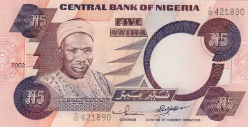 Drummers//p24g UNC 2002 Nigeria 5 Naira
