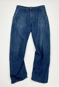 jeans-uomo-usato-relaxed-comfort-W36-tg-50-denim-gamba-dritta-boyfriend-vintage