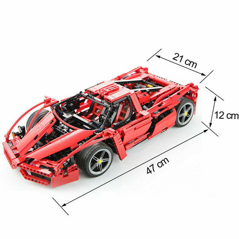 1359pcs LEGO COMPATIBILE Ferrari Enzo Super auto  1 10 Scale Sports 8653 Technic  Sconto del 40%