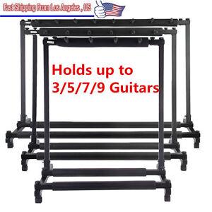guitar stand 9 7 5 3 holder guitar folding stand rack band stage bass acoustic l ebay. Black Bedroom Furniture Sets. Home Design Ideas