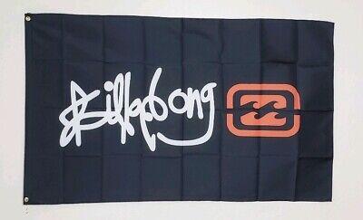 Billabong Flag Banner 3x5 ft Surf Clothing Garage USA Black