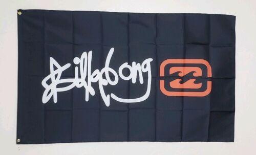 Billabong Banner 3x5 Ft Flag Garage Wall Man Cave Surf Decor Surfing Surfboards