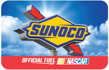 $100 Sunoco Gas Physical Gift Card