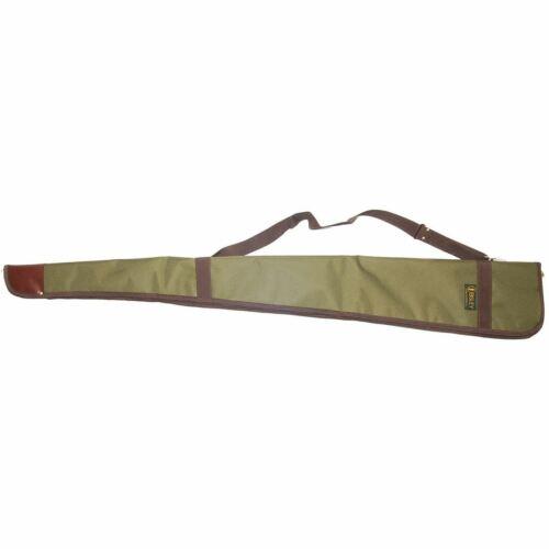 Bisley Full Length Zipped Green Canvas Shotgun Bag Cover