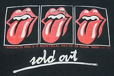 L * thin vtg 80s 1989 the ROLLING STONES Toronto x Montreal CANADA tour t shirt