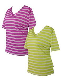Schneider Sportswear Merle Damen T-Shirt Pulli Kurzarm Stretch lila limone Gr.40