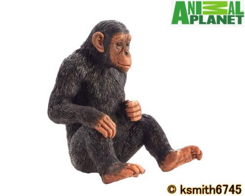 Mojo Animal Planet chimpancé juguete de plástico sólido Wild Zoo Chimpancé Mono Mono Nuevo