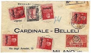 1504-Colonie-Cirenaica-Affrancatura-mista-su-frontespizio-31-10-1925