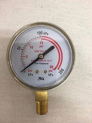 """2-1//2/"""" Low Pressure Gauge Acetylene Regulator 0-30 PSI1//4/""""-18NPT 2.5/""""X30 CC-022"""