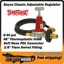LPG Propane Regulator Adjustable High Pressure 0-40 psi Bayou Classic 5HPR-40