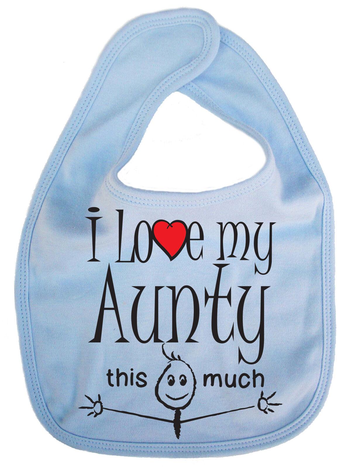 choice of colours Personalised Bandana Bib I love my aunty nanny big sister