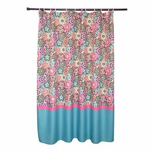 Details About Waffle Texture Folk Multi Colored Bright Fl Pattern Shower Curtain