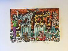"James Rizzi: original 3D ""HERE KITTY KITTY"", handsigniert, vergriffen, Mini 2002"