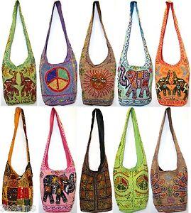 Image Is Loading Hippy Shoulder Bag Sling Handbag Embroidery Boho Beach