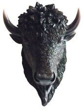 """THUNDER of the PLAINS  Small Buffalo / Bison Head  TOTEM   statue figure  H11.5"""""""