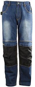 DBlade Mens Denim Work Jeans Multipocket Reinforced Work Wear Pants CE//EN
