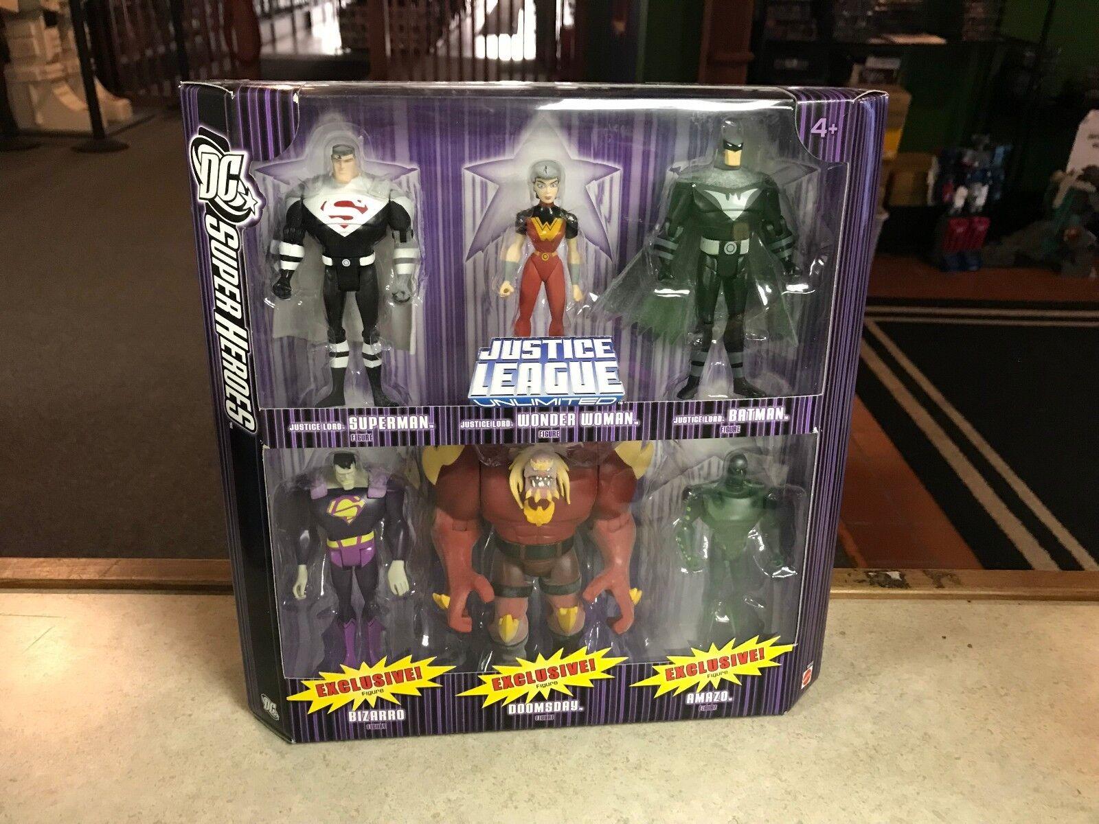 2007 DC Super Heroes JLU Unlimited Batman Bizarro Doomsday Amazo Figure Set MIB