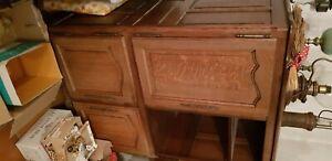 Meuble hifi style ancien en bois