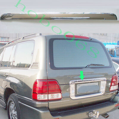 1XFor Toyota LandCruiser LC100 4700 98-07Silvery Rear License ABS Tail Door Trim