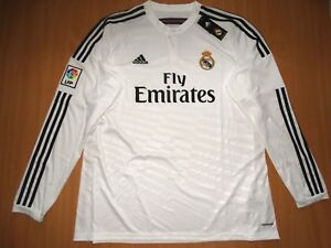 on sale e2a01 a247d Details about NEW REAL MADRID RONALDO LONG HOME shirt camiseta 2014 2015  ADIDAS 14 15