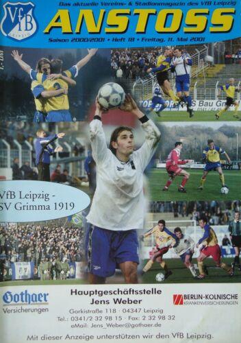 SV 1919 Grimma Programm 2000//01 VfB Leipzig