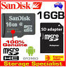 SanDisk Genuine micro SD 16GB SDHC class 4,SD adapter, 16G memory card TAX Inv