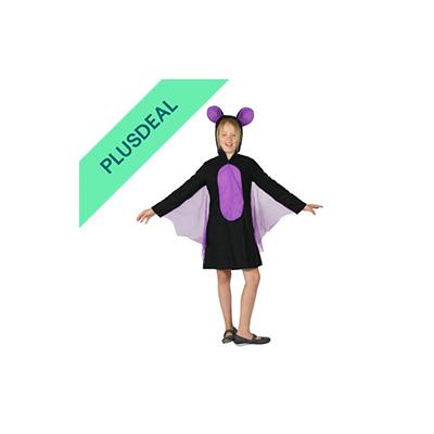 Fledermaus Kostüm für Mädchen Fledermauskostüm Halloween Tier Mädchenkostüm Gr.