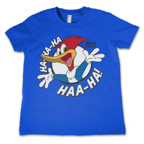 Officially Licensed Woody Woodpecker HAHAHA Kids T-Shirt Age 3-12 Years