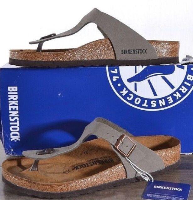 6c05522aa41 Birkenstock Womens Gizeh Stone Thong Sandal Size 39 US Ladies 8 Mens ...