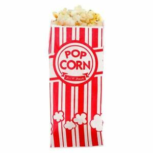 New-Carnival-King-Paper-Popcorn-Bags-1-Ounce-Pack-of-100-Red-and-White