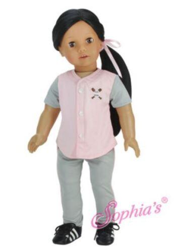 "Gray Baseball Uniform for American Girl or Boy 18/"" Doll Clothes U LOVV LOVVBUGG!"