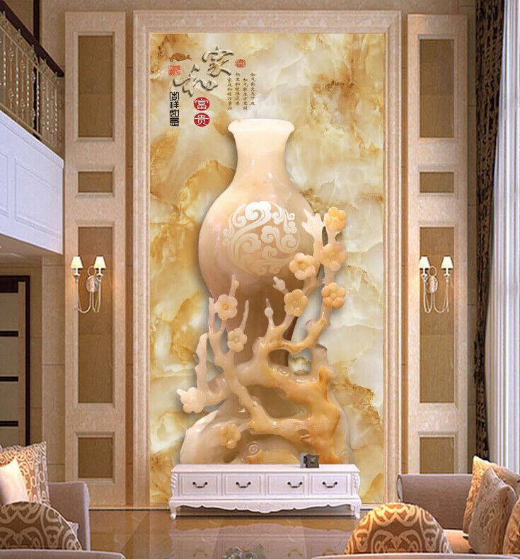 3D Luxury Vase 743  Wall Paper Murals Wall Print Wall Wallpaper Mural AU Lemon