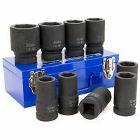 10pc Drive Tool Socket Set Metric Size Mm Black Impact Ratchet Deep 1 Standard on sale