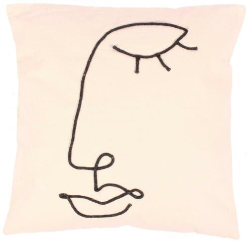 Kissenhülle 50 x 50 Gesicht Frau Kopf Kissen Kissenbezug Design Abstrakt Kunst