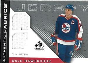 2007-08-SP-Game-Used-Authentic-Fabrics-AFDH-Dale-Hawerchuk-Jersey-NM-MT