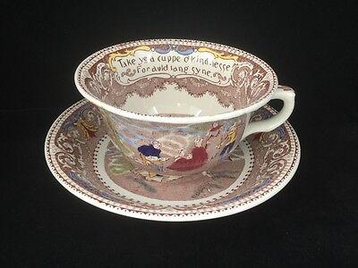 British Anchor Ye Olde Historical Pottery Motto Mug & Bowl-Transferware.  #1815