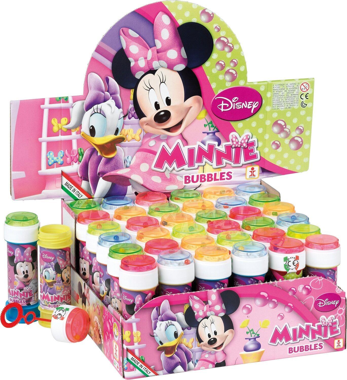 Box von 36 OR 6 GIRLS KINDER MINNIE MAUS Bubbles Party Beutel Füller Spielzeug