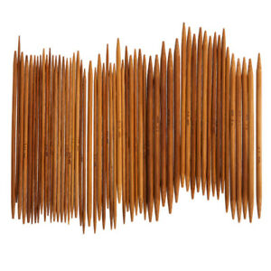 55-Stueck-Bambus-Stricknadel-Set-Dual-Spitz-11Groessen-2-5mm-Laenge-14cm-Nadelspiel